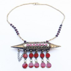 Afghan Tribal kuchi necklace with metal rocket-662