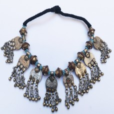 Afghan Tribal belly dance necklace-687