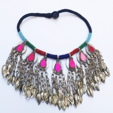 Belly Dancing tribal coin necklace -953