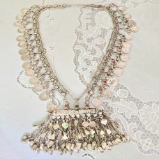 Vintage Afghan Ethnic Turkmen Tribal Handmade Necklace-1138