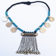 Turkman kuchi tribal necklace with bells-173