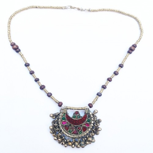 Kuchi tribe necklace with bells-38