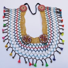 Afghan beaded tribal daman Choker#75