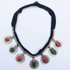 Banjara tribal gypsy coin necklace-305