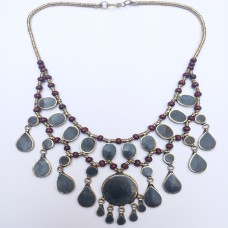 Belly Dance black kuchi tribe necklace-553