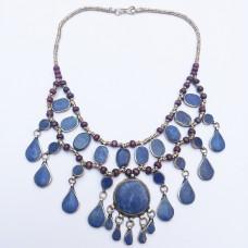 Afghan lapis Vintage Kuchi tribal Necklace-63