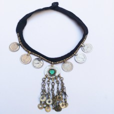 Etsy wear tribal coin necklace-789