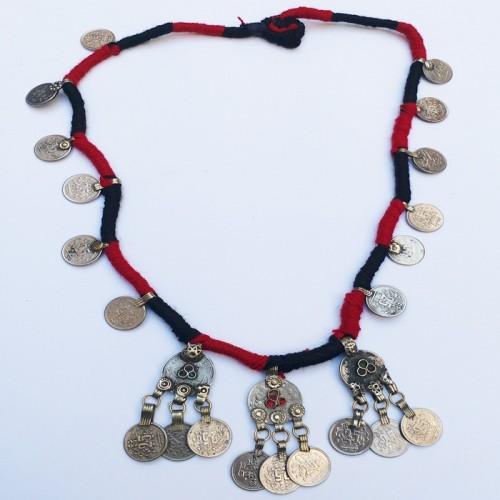 Afghan Tribal Antique Vintage choker-873