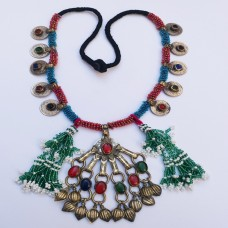 Afghan Tribal Antique Vintage Choker-899