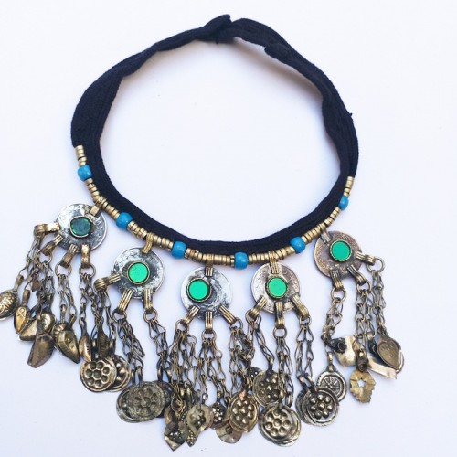 Afghani Style Antique Vintage Necklace-994