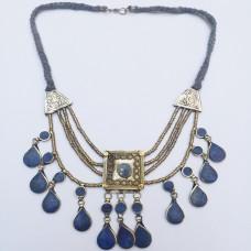 Afghani kuchi tribe Lapis necklace-436