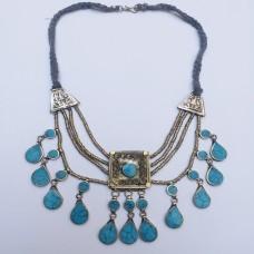 Afghani kuchi tribal Turquoise necklace-439