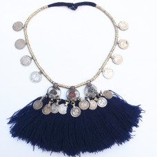 Kuchi tribal coins necklace-790