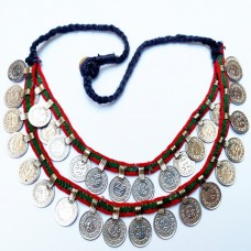 Afghan Tribal Necklace Kuchi Fashion Coin Necklace Belly Dance Jewelry-1158