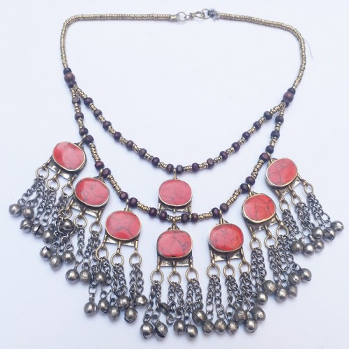 Tribal Style Vintage Necklace with stone-1066