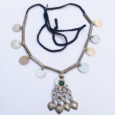 Ethnic old coin tribal choker for women-1116