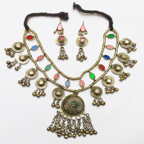 VINTAGE AFGHAN ETHNIC TRIBAL HANDMADE NECKLACE WITH NECKLACE-1168