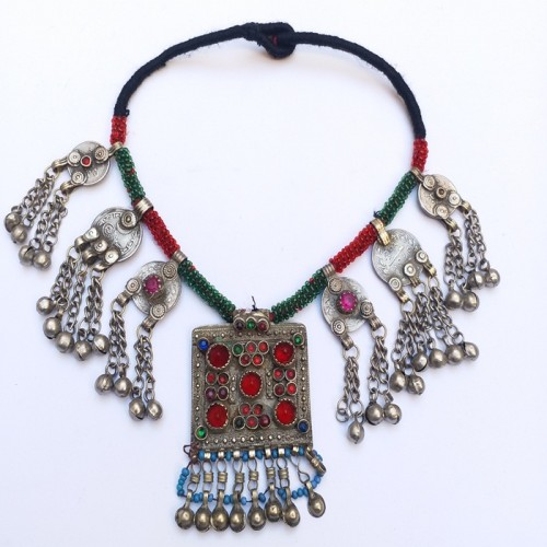 Kuchi tribe necklace with gypsy pendant-179