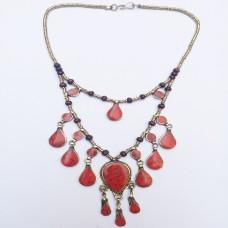 Coral Vintage Necklace-432