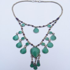 Malachite Vintage pendant Necklace-434