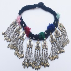 Afghan Tribal kuchi necklace with old coins-667