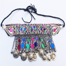 Tribal kuchi afghan necklace-788