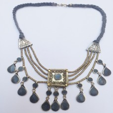 Afghan Tribal Antique Vintage necklace-859