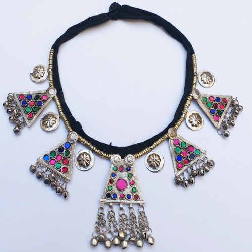Stunning vintage antique tribal necklace -868