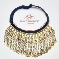 Vintage Afghani Necklace Kuchi Tribal Necklace Antique Ethnic Necklace # 1196
