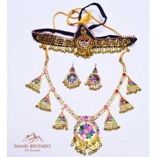 Afghan Tribal Jewellery Set # 1202