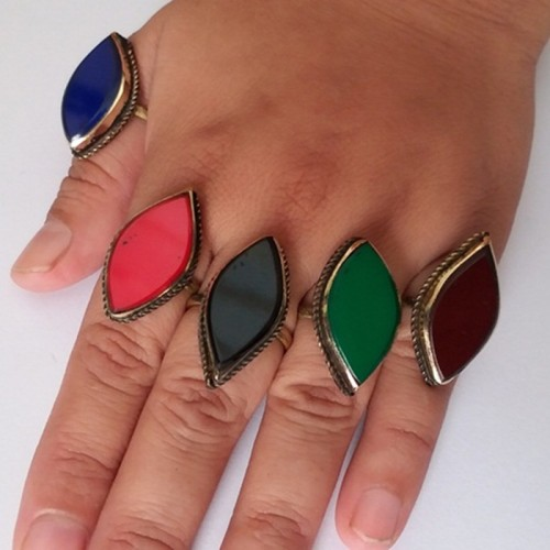 Afghan casual Jewellery golden Rings-1092