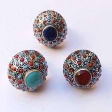 Afghan jewellery multi colour vintage top rings # 1121