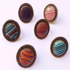Vintage Tribal Rainbow Fashion Rings-1140