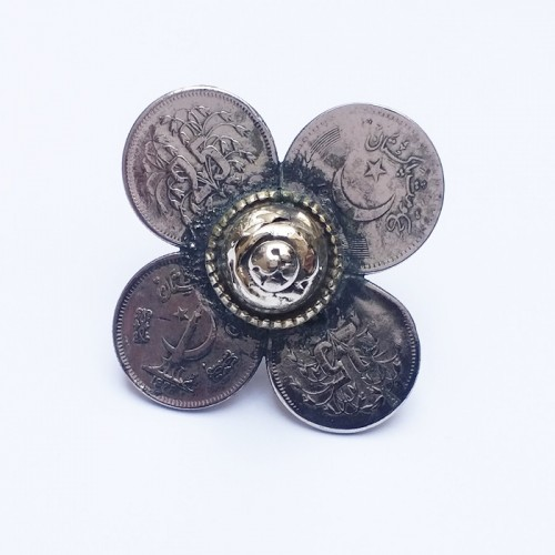 Afghan Kuchi Tribal Old Coins Ring-1173