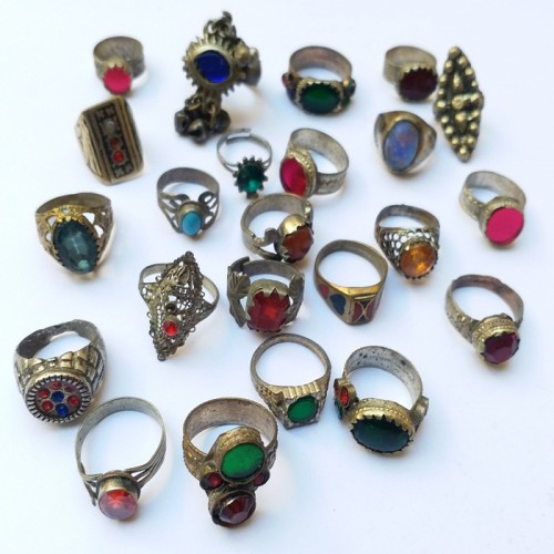 German silver Kuchi tribal rings-12