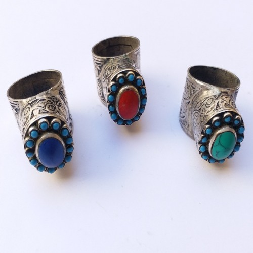 Afghan kuchi hand crafted ring-367