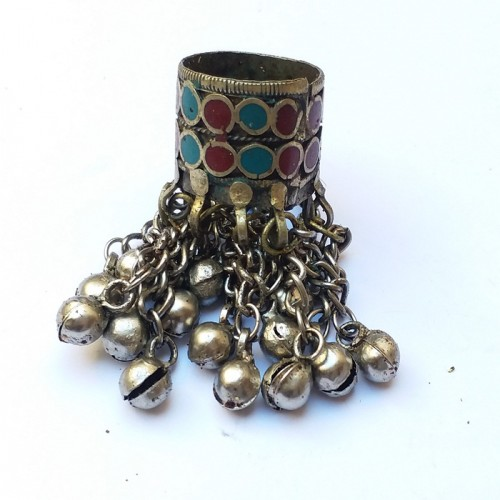 Vintage kuchi full finger bells ring-53