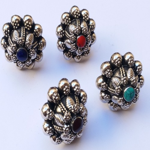 Afghan Tribal Christmas Vintage Ring-934