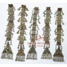 vintage afghan metal kuchi tribal button-1027