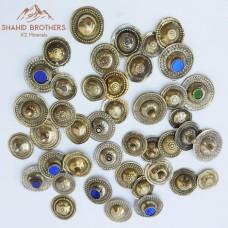 afghan kuchi wazeeri metal button-911