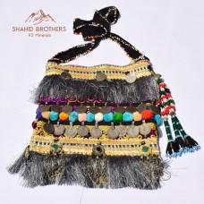 Afghan Tribal Old Coins Vintage Bag # 275