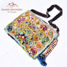 afghan embroidery mirror bag # 834