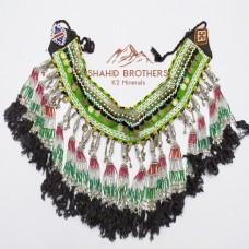 Afghan Tribal Antique Beaded Tassel Vintage belt # 13