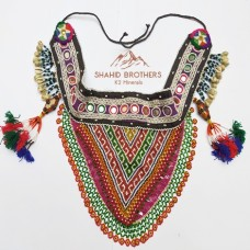 Tribal Gypsy Banjara Fancy Beaded Patch & Shall Bead Belt # 711