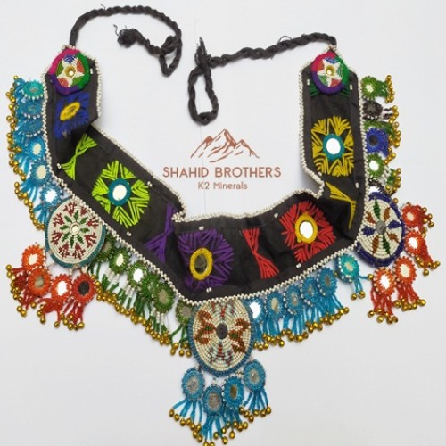 gypsy banjara beaded medallion and keychain belt # 715
