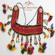 Antique Vintage Afghan Tribal Beaded Tassels Belt # 196