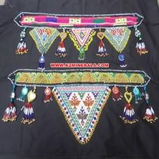 Banjara Fabric And Beaded Keychain Belt # 290