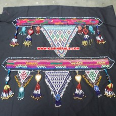 afghan cloth with fancy beaded patch belt # 291