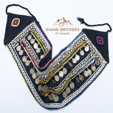 Afghan Tribal Double Coins Belt # 581
