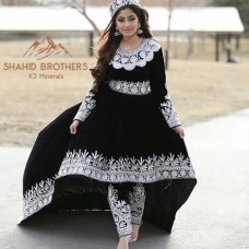 Latest Fashion Afghan Bridal Clothes Tribal Style Black Color Wedding Suit Online # 862